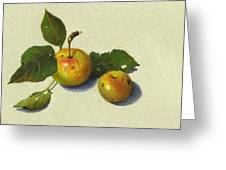Wild Apples In Color Pencil Greeting Card