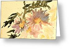 Wild Asters Aged Look Greeting Card
