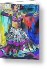 Wild Belly Dancer Greeting Card