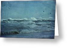 Wild Blue - High Surf - Outer Banks Greeting Card