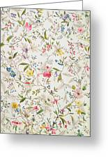 Wild Flowers Design For Silk Material Greeting Card