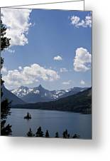 Wild Goose Island Floats In St Mary Lake Greeting Card