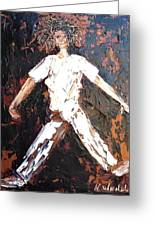 Wild Haired Dancer Greeting Card