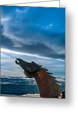 Wild Horse Sculpture Greeting Card