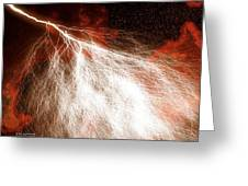 Wild Lightning  Greeting Card