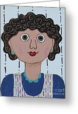 Wild Woman 3 Greeting Card by Marilyn West