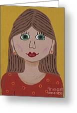 Wild Woman One Greeting Card by Marilyn West