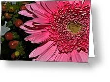 Wildly Pink Mum Greeting Card