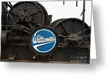 Willamette Steam Engine 7d15104 Greeting Card