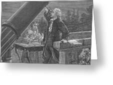 William And Caroline Herschel, German Greeting Card