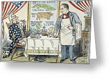 William Mckinley Cartoon Greeting Card