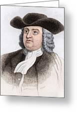 William Penn, English Coloniser Greeting Card