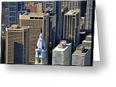 William Penn Statue On City Hall Broad St And Market St Philadelphia Pennsylvania 19107 Greeting Card
