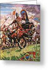 William The Conqueror At The Battle Of Hastings Greeting Card