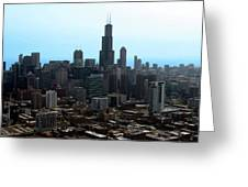 Willis Sears Tower 04 Chicago Greeting Card