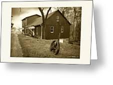 Williston Mill - Sepia Greeting Card
