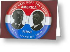 Wilson Campaign Button Greeting Card