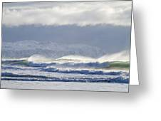 Wind And Waves Greeting Card
