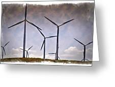 Wind Farm IIi - Impressions Greeting Card