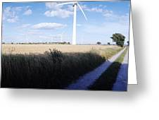 Wind Farm - Skaane Greeting Card