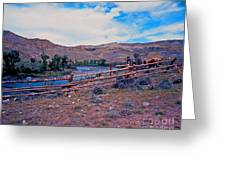 Wind River And Horses Greeting Card