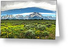 Wind River Range In West Central Wyoming - 02 Greeting Card
