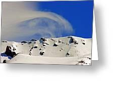 Wind Skier Greeting Card