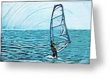 Wind Surfer Greeting Card
