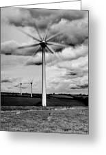 Wind Turbines Mono Greeting Card