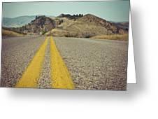 Winding American Highway Greeting Card by Ray Devlin