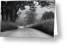 Winding Rural Road Greeting Card