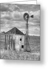 Windmill And Shack Greeting Card
