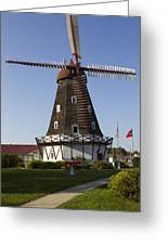 Windmill Danish Style 1 A Greeting Card