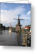 Windmill In The Nederlands Greeting Card