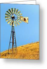 Windmill On Golden Hill Greeting Card