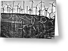 Windmills By Tehachapi  Greeting Card by Susanne Van Hulst