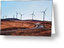 Windmills Near El Chorro Greeting Card