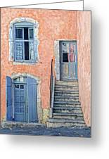 Window And Doors Provence France Greeting Card
