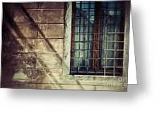 Window And Long Shadows Greeting Card
