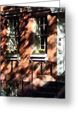 Window Boxes Greenwich Village Greeting Card