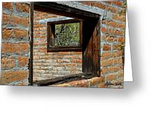 Window Geometry At Alamo Ranch Greeting Card