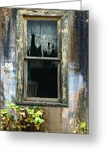 Window In Old Wall Greeting Card by Jill Battaglia
