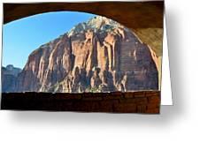 Window Into Zion Greeting Card