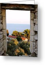 Window Of Sea Greeting Card