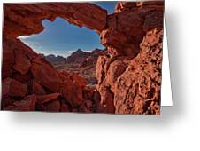 Window On The Valley Of Fire Greeting Card