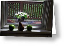 Window Sill 4 Greeting Card