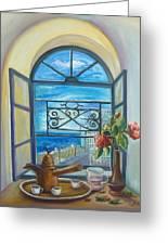 window to Jaffa Greeting Card
