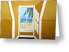 Window To The Sea No. 3 Greeting Card