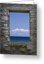Window View At Fayette State Park Michigan Greeting Card