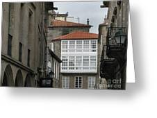 Windows Of Galicia Greeting Card